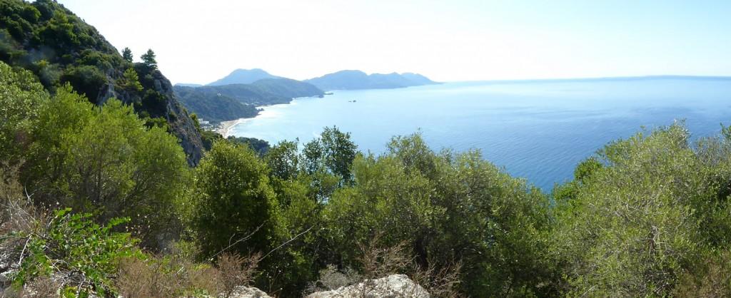 panoramablick korfu westküste