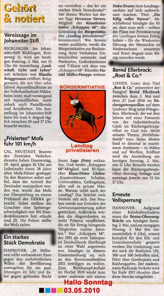 100502Hallo Sonntag - Landtag privatisieren