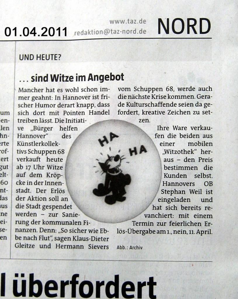 taz SCHUPPEN 68 Witze Verkauf