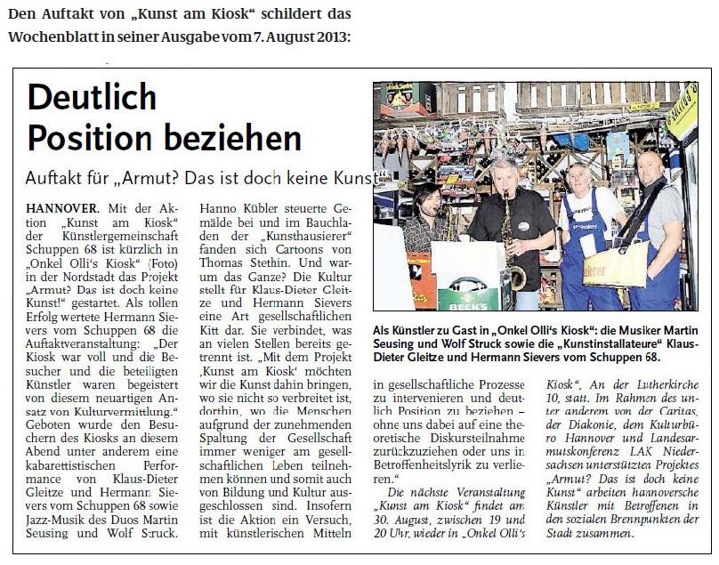 130807Wochenblatt Kunst am Kiosk