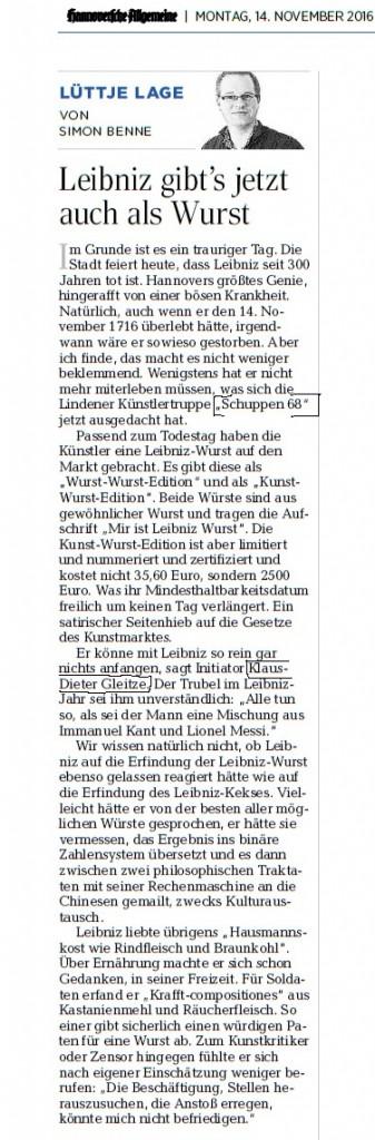 161114Die Leibniz Wurst HAZ